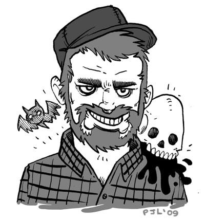 Self portrait of Peter Lazarski, Imaginary Monsters creator!