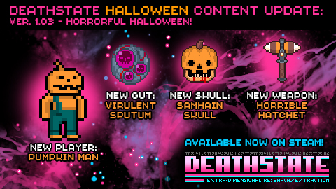 Pumpkin Man now a playable character in Deathstate Halloween update!