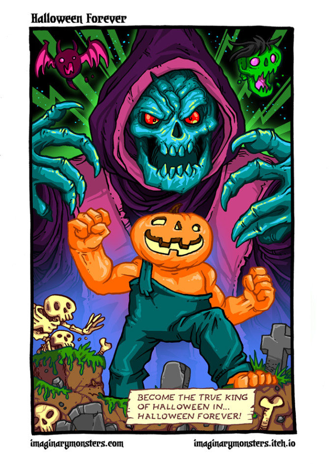 Halloween Forever page 8. Final page! Become the True King of Halloween in Halloween Forever!