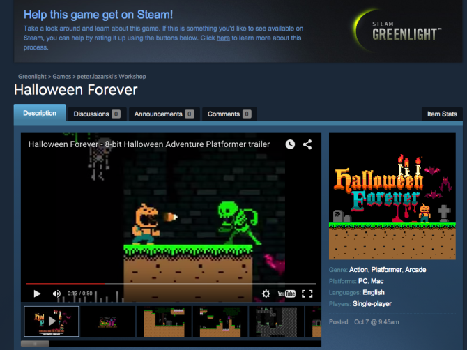 Halloween Forever on Steam Greenlight