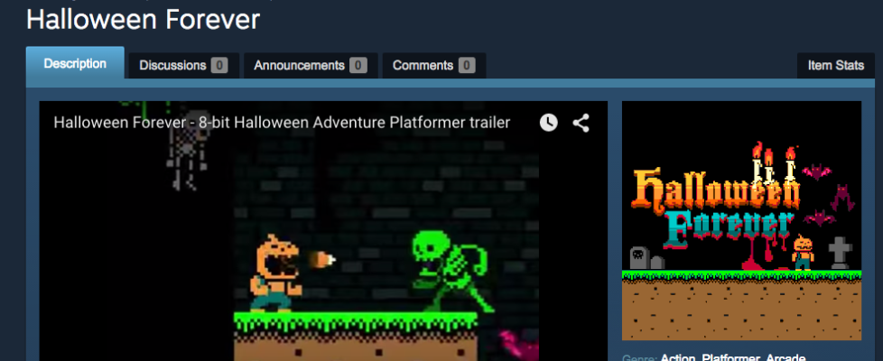 Help Halloween Forever get votes on Steam Greenlight!