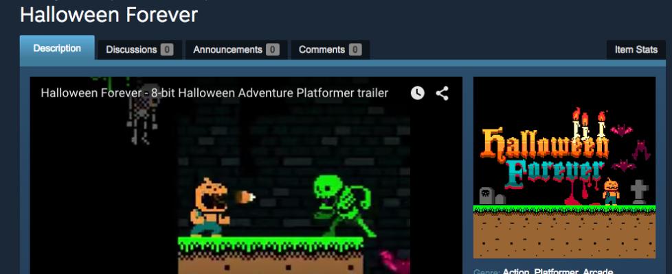 Help Halloween Forever get votes on Steam Greenlight!