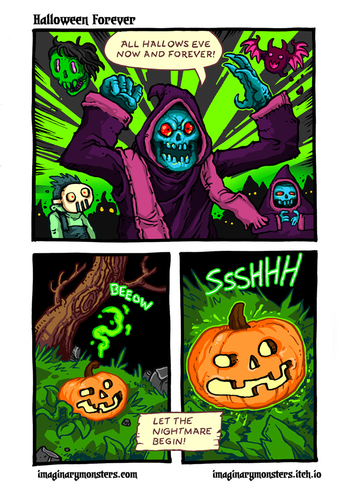 Halloween Forever page 4. All Hallows Eve now and forever!